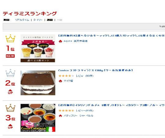 new_【楽天市場】ティラミス   週間売れ筋人気ランキング 1位 ~20位  - ランキング市場 (1)